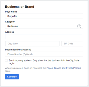 Facebook Business Or Brand